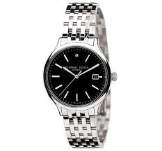 black bracelet mens watches images Eternal silver men 39 s watch 38mm round black dial with single jpg