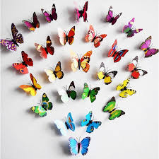 cinderella butterfly 3d butterfly decoration wall stickers 3d