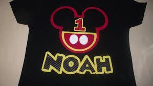 mickey mouse birthday shirt customized mickey mouse or minnie mouse birthday t shirt