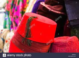 Ottoman Cap Pile Of Turkish Fez Traditional Ottoman Hat Stock Photo Royalty