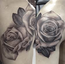 3d flower tattoos in black and white 3d tattoos