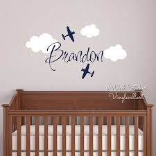 stickers chambre b b personnalis nom personnalisé sticker mural enfants chambre bébé pépinière avion