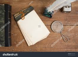 Quill Conference Table Old Notepad Antique Book Quill Ink Stock Photo 98737751 Shutterstock