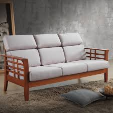 awesome chocolate grey oak wood foam mission style sofa foam seat
