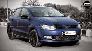 modified volkswagen polo volkswagen polo midnight blue wrap ide autoworks