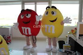 m m halloween costume m u0026amp m chocolate candy red and yellow mascot costume free s h