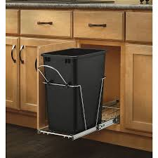 simplehuman in cabinet trash can cw1643 angle on door w liner lid up handh sink under trash can with