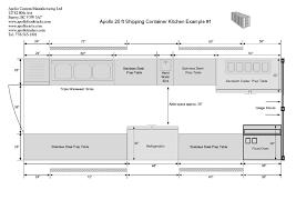 drawing layout en espanol shipping container kitchen floorplan b apollo manufacturing