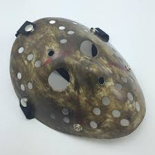 Jason Costume Antique Black Dirty Jason Mask Cosplay Full Face Killer Mask Jason