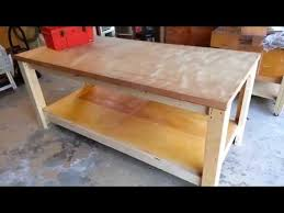 How To Build A Shooting Bench Out Of Wood How To Build A Sturdy Workbench Inexpensively 5 Steps With Pictures