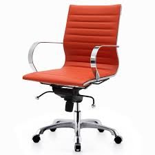 Leather Desk Chair by Exciting Orange Leather Desk Chair 96 For Comfortable Desk Chair