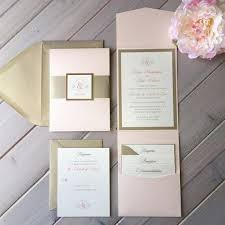 pink and gold wedding invitations blush pink and light gold wedding invitations pink gold and