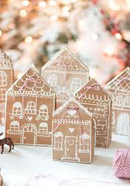 10 best kraft paper holiday crafts gingerbread puffy paint and