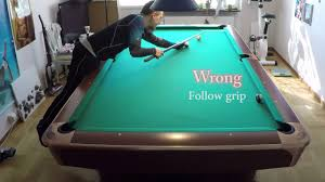part 1 secret grip for draw and follow holding cue in pool for