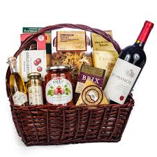 italian gifts evening gift basket wine and chagne gifts by san francisco