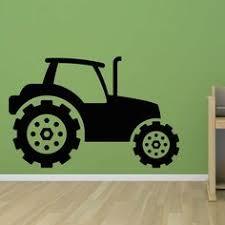 stickers high pour chambre plaque de porte tracteur avec prénom décoration pour chambre d enfant