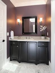 Bathroom Cabinetry Ideas Colors Plum Powder Room W Black Cabinets Add A Cream Colored