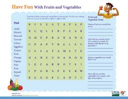 have fun with fruits u0026 vegetables u0027 in this myplate activity