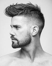 unnamed model with slick haircut and stubble stubble pinterest