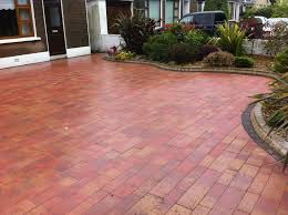 Patio Interlocking Pavers by Decor U0026 Tips Outdoor Design With Driveway Pavers And Hedge Also