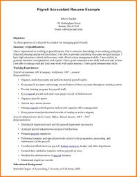 accounting resume exles pleasing payroll accountant resume in of exles templates