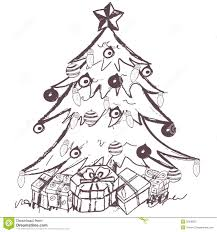 sketch christmas tree rainforest islands ferry