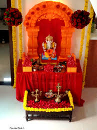 ganpati decoration gauri idea at my home we celebrate the festival with the same zeal as a normal punekar would
