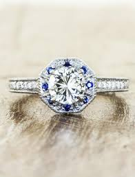 sapphires wedding rings images Viola art deco inspired diamond sapphire ring ken dana design jpg