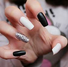 25 best black white nails ideas on pinterest shellac nail art