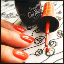 fingerpaints gel polish rococo orange nail polish my digits