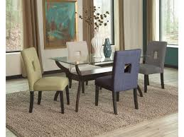 coaster andenne 5 piece glass top dining table set dunk u0026 bright