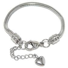 european style bracelet charms images Stainless steel starter charm bracelet for kids fits jpg