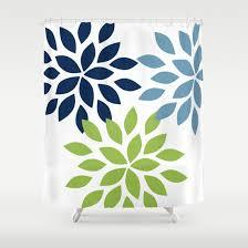 Navy And Green Bathroom Dahlia Shower Curtain Pear Navy Stone Art Bathroom Accessories