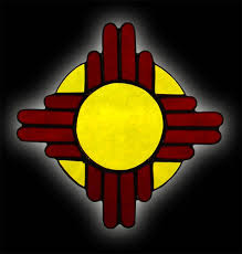 mexico flag zia sun symbol stained glass suncatcher
