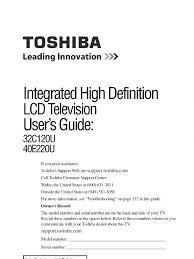 toshiba 32c120u owners manual video hdmi