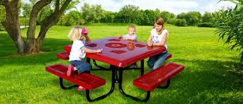 kids outdoor picnic table kids height traditional style steel picnic tables belson outdoors