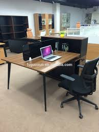 guoxun project modern white office executive desk with frame mfc