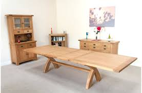 solid oak extendable dining table and 6 chairs penley oak