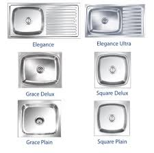 stainless steel kitchen sink sizes nirali kitchen sink wash basins sanitaryware fittings oza