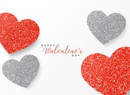 happy valentine u0027s day greeting template glitter design in red and