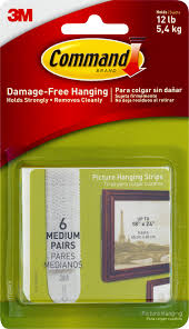 Hanging Pictures Command Brand Damage Free Hanging Picture Hanging Strips Medium