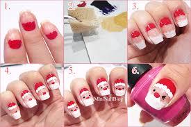 santa nail art tutorial nailbees