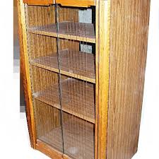 Stereo Cabinet Glass Door Oak Stereo Cabinet With Glass Doors Ebth