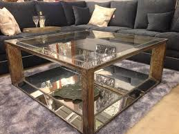 mirrored glass coffee table furniture the mirror coffee table for luxurious living room high