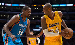 k d kobe bryant wrote to kd be the greatest on his shoes and gave