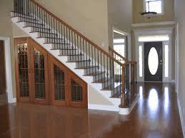 under stairs pantry simple stainless steel bowl dark brown rattan