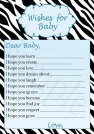 printable zebra wishes for baby u0026 jar label baby shower for sale