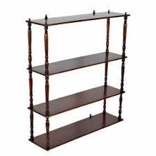 Mahogany Effect Bookcase Mahogany Wall Shelves Foter
