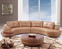 Curved Sectional Sofa Leather Contemporary Curved And Sectional Sofas
