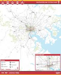 Baltimore Bus Routes Map Baltimorelink Transit Network Redesign U2022 Foursquare Itp
